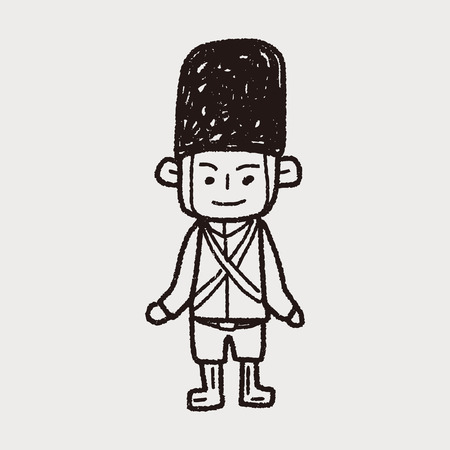 England Soldier doodle