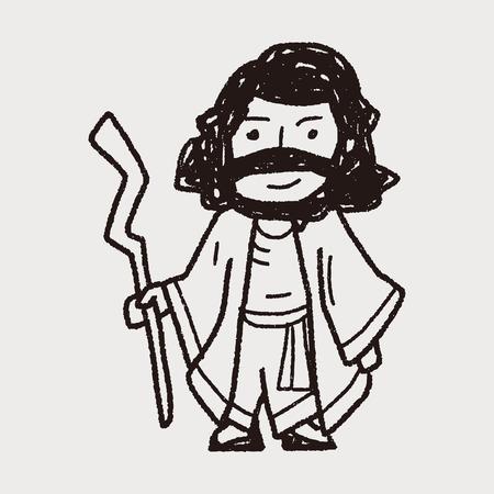 jezus: Jezus doodle