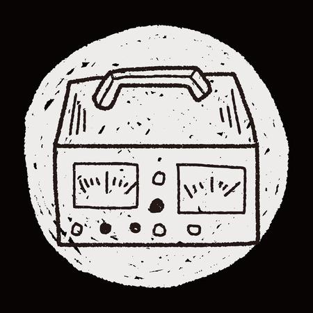 voltmeter: electricity measurer doodle