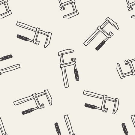 calliper: measuring tool doodle seamless pattern background