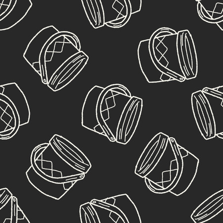 paint bucket: paint bucket doodle seamless pattern background