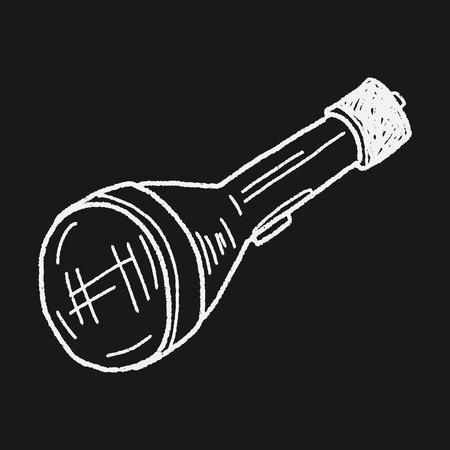 taschenlampe: Taschenlampe doodle
