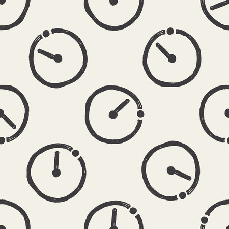 contagem regressiva: time countdown doodle seamless pattern background
