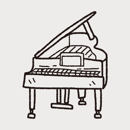 piano: piano doodle Illustration