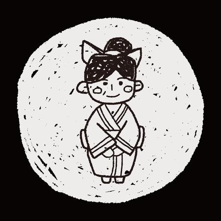 japanese woman: Japanese woman doodle