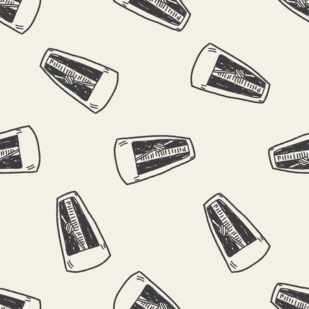 metronome: Metronome doodle seamless pattern background