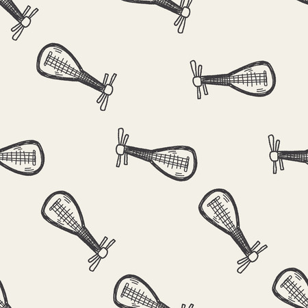lute: lute doodle seamless pattern background