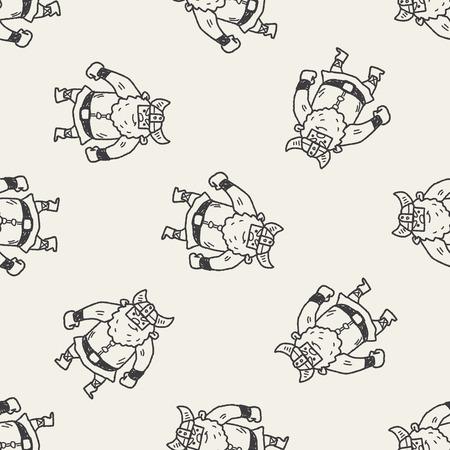 costume eye patch: viking doodle seamless pattern background