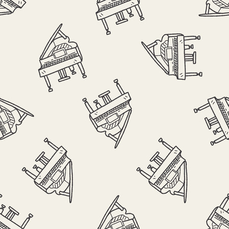 piano: piano doodle seamless pattern background