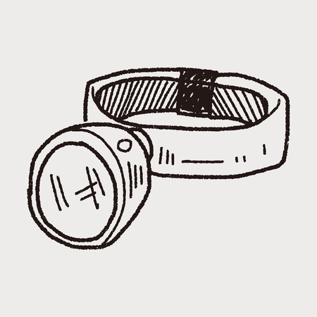headlamp: Headlamp doodle Illustration