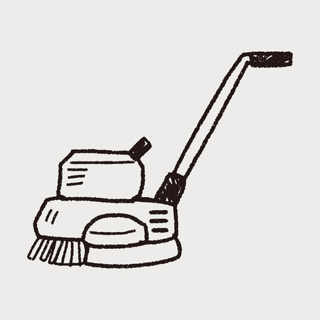 carpet cleaning service: floor buffing machines doodle