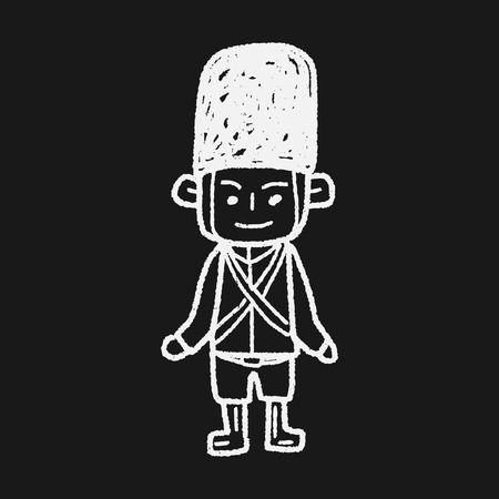 inglaterra: Inglaterra Soldado do doodle