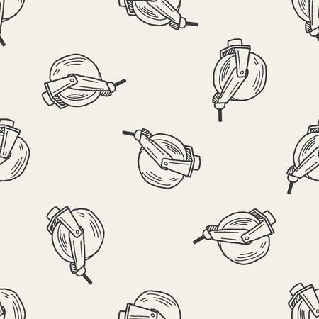bearing: bearing doodle seamless pattern background