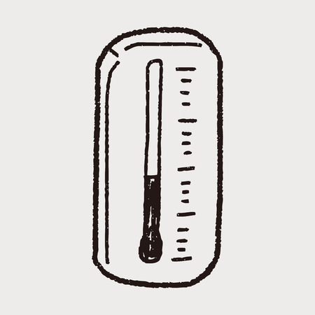 celsius: Thermometer doodle Illustration