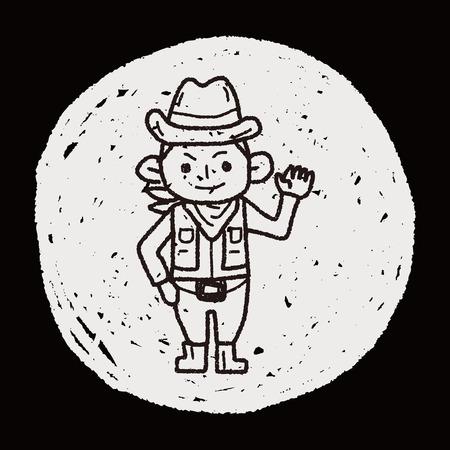 esploratori: Explorer Doodle Vettoriali