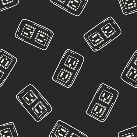outlet doodle seamless pattern background Vector
