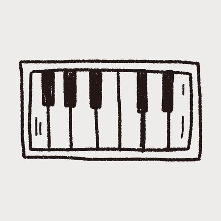 piano doodle Ilustrace
