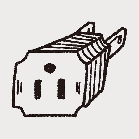 outlet doodle Vector