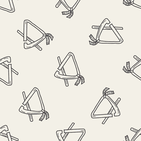 to chime: Triangle doodle seamless pattern background