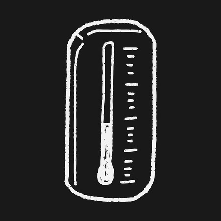 high scale: Thermometer doodle Illustration