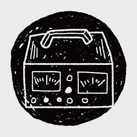ammeter: electricity measurer doodle
