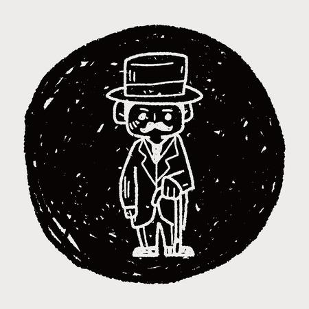 gentleman doodle Illustration