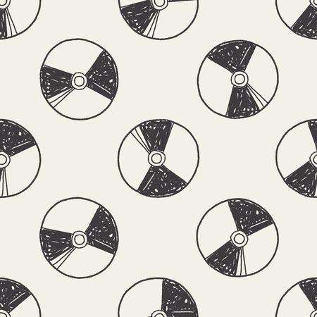 dvd case: dved doodle seamless pattern background Illustration