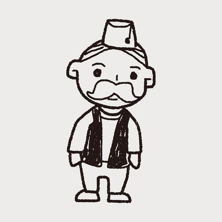 indian old man: indian old man doodle