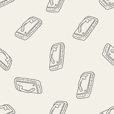 cleaning tool doodle seamless pattern background