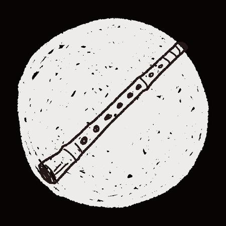 flute: Flute doodle Illustration
