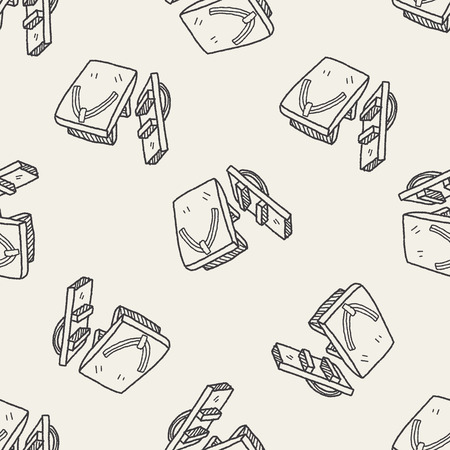 clogs: Clogs Shoe doodle seamless pattern background Illustration