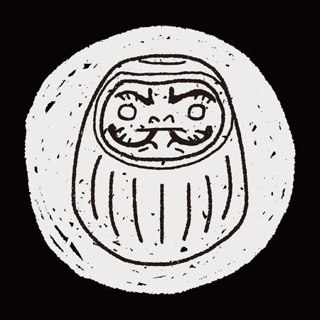 tumbler: Japanese doll doodle