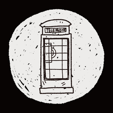 telephone booth: Telephone booth doodle