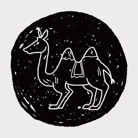 낙타 낙서 일러스트
