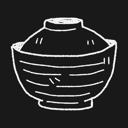 bowl: bowl doodle Illustration