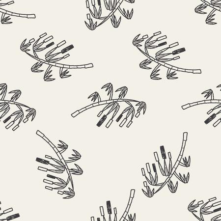 wishing: wishing tree doodle seamless pattern background