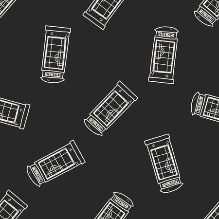 telephone booth: Telephone booth doodle seamless pattern background