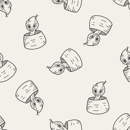king cobra: cobra doodle seamless pattern background
