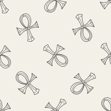 pharaoh Cane doodle seamless pattern background Vector