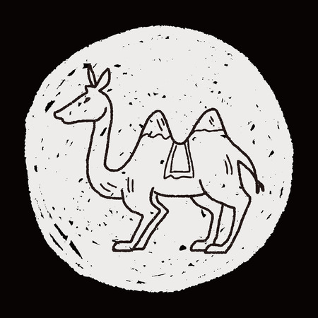 dromedary: Camel doodle