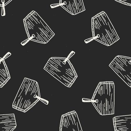 wishing: wishing board doodle seamless pattern background Illustration