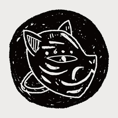 foxy: fox mask doodle