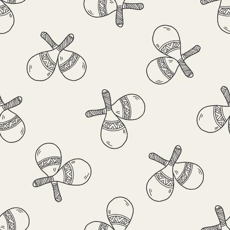 maracas: maracas doodle seamless pattern background