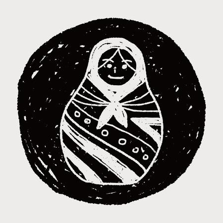 mu�ecas rusas: Doodle mu�ecas rusas