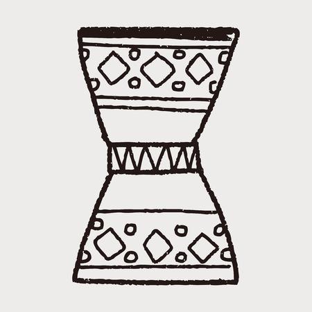 djembe: African drum doodle Illustration