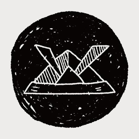 ronin: paper samurai helmet doodle