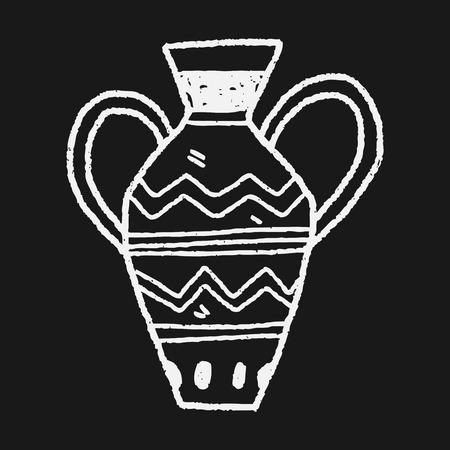 아프리카 꽃병 낙서