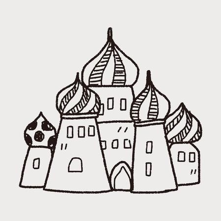 russia castle doodle