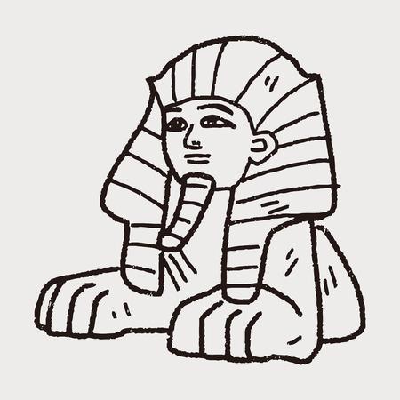 sphinx: Sphinx Doodle Vettoriali
