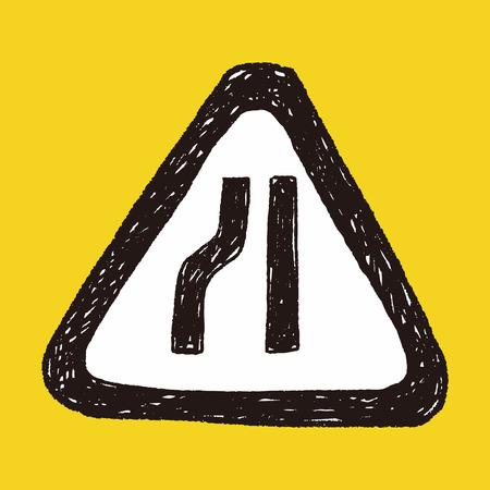 merge: road narrow merge doodle